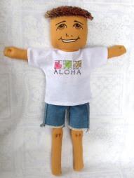 cutoffs and aloha shirt for boys
