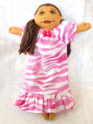 nightgown in pink zebra