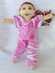 pajamas in pink zebra