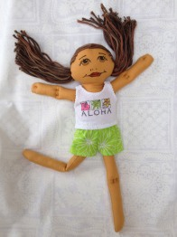 shorts and aloha tank top in green