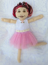 tutu in pink with rosette tank top